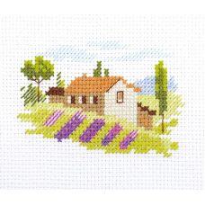 Набор для вышивания крестом Тоскана, 8x6, Алиса
