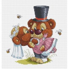 Набор для вышивания крестом Свадьба, 24x25, Белоснежка
