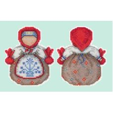 Набор для вышивания крестом на пластиковой основе Оберег. Кубышка, 11x9, Жар-Птица (МП-Студия)
