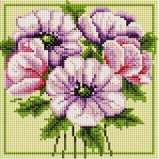 Алмазная мозаика Чудесные цветы, 20x20, полная выкладка, Белоснежка