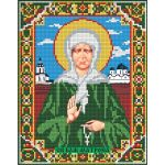 Мозаика стразами Икона Матрона Московская, 22x28, частичная выкладка, Алмазная живопись
