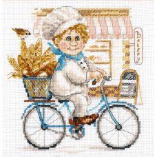 Набор для вышивания крестом Пекарь, 16x17, Алиса
