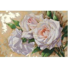 Набор для вышивания крестом Розовое трио, 36x49, Белоснежка