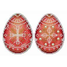 Набор для вышивания крестом на пластиковой основе Алая писанка, 11x8, Жар-Птица (МП-Студия)