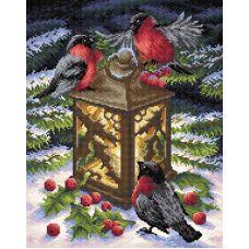 Алмазная мозаика Тепло зимы, 38x48, полная выкладка, Brilliart (МП-Студия)