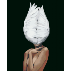Живопись по номерам Девушка-птица, 40x50, Hobruk, CM0004
