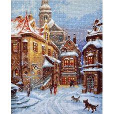 Набор для вышивания крестом А снег идет, 21x27, Палитра