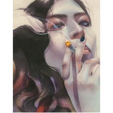 Живопись по номерам Девушка с сигаретой, 40x50, Paintboy, GX30573