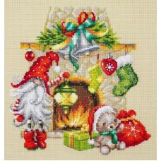 Набор для вышивания крестом В ожидании рождества, 22x22, Чудесная игла