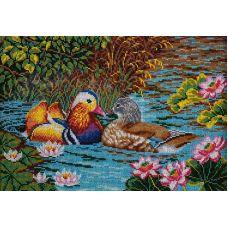 Набор для вышивания бисером Любовь и гармония, 38x27, Кроше