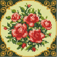 Алмазная мозаика Маленькие розочки, 20x20, полная выкладка, Белоснежка
