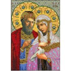 Набор для вышивания Святые Петр и Феврония Муровские, 18x27, Вышиваем бисером
