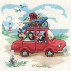 Набор для вышивания крестом Папа купил автомобиль, 23x23, Риолис, Сотвори сама