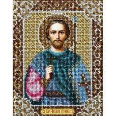 Набор для вышивания бисером Святой Федор, 14x18, Паутинка