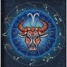 Набор для вышивания бисером Год быка. Овен, 20x20, Кроше