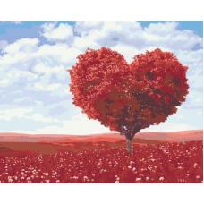 Живопись по номерам Дерево любви, 40x50, Hobruk, HS1261