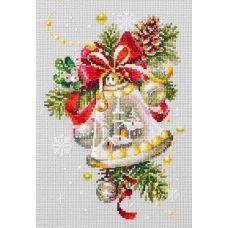 Набор для вышивания крестом Рождественский колокольчик, 16x23, Чудесная игла
