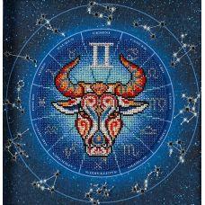 Набор для вышивания бисером Год быка. Близнецы, 20x20, Кроше