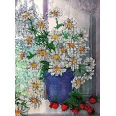 Набор для вышивания бисером на шелке Ромашки у окна, 27,5x36,5, Fedi