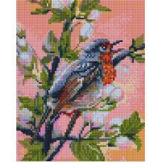 Алмазная мозаика Весенние трели, 20x25, полная выкладка, Белоснежка