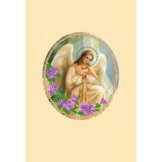 Набор для вышивания с бисером и паспарту Ангел 1, 24x26 (14x16), Матренин посад