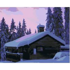 Живопись по номерам Домик в лесу, 40x50, Hobruk, HS0396