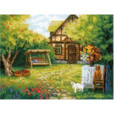 Набор для вышивания крестом Загородный домик, 40x30, Риолис, Сотвори сама