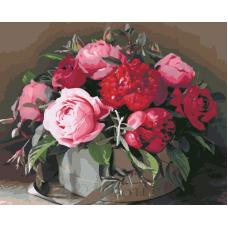 Живопись по номерам Шикарный букет, 40x50, Hobruk, U8050
