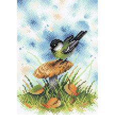 Алмазная мозаика На грибной опушке, 19x27, полная выкладка, Brilliart (МП-Студия)