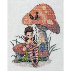 Набор для вышивания крестом Лесное чаепитие, 17x20, НеоКрафт