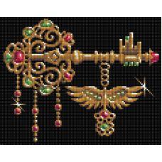 Мозаика стразами Ключ от всех дверей, 24x30, полная выкладка, Алмазная живопись