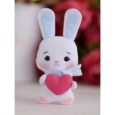 Набор для шитья куклы Зайка Лилия с сердечком, 14,5 ,Тутти