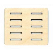 Подставка под бобины в 2 ряда, 9,5x8, Щепка (МП-Студия)