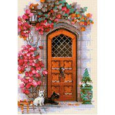 Набор для вышивания крестом Дверь в Шотландию, 21x30, Риолис, Сотвори сама