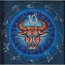 Набор для вышивания бисером Год быка. Козерог, 20x20, Кроше