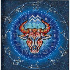 Набор для вышивания бисером Год быка. Водолей, 20x20, Кроше