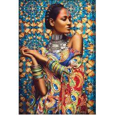 Мозаика стразами Обворожительная Иара, 40x60, полная выкладка, Алмазная живопись