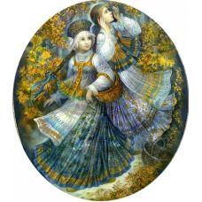 Набор для вышивания с бисером и паспарту Осеннее богатство, 24x26 (14x16), Матренин посад