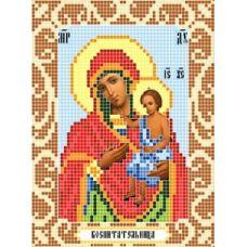 Канва с рисунком Богородица Воспитательница, 12x16, Божья коровка