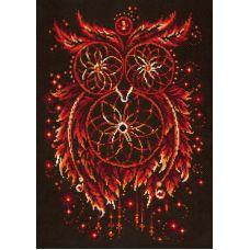Набор для вышивания крестом Пламя души, 29x40, Чудесная игла