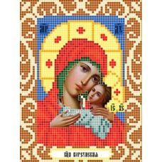Канва с рисунком Богородица Корсунская, 12x16, Божья коровка