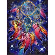 Мозаика стразами Ловец волшебных снов, 30x40, полная выкладка, Алмазная живопись