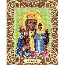 Канва с рисунком Богородица Неувядаемый цвет, 20x25, Божья коровка