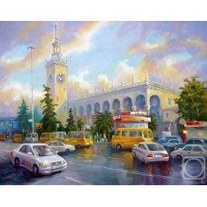 Живопись по номерам Железнодородный вокзал Сочи, 40x50, Paintboy, GX27824