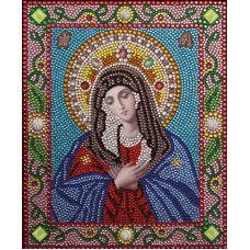 Алмазная вышивка термостразами Богородица Умиление, Преобрана