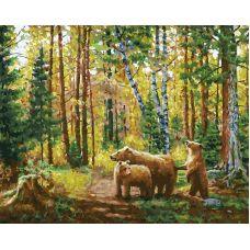 Живопись по номерам Хранители леса, 40x50, Белоснежка