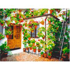 Живопись по номерам Стена с цветочками, 30x40, Hobruk, HS2010