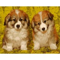 Живопись по номерам Милые щеночки, 40x50, Paintboy, GX39487