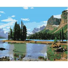 Живопись по номерам Горное озеро, 40x50, Hobruk, HS1333