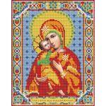 Мозаика стразами Икона Владимирская Богородица, 22x28, частичная выкладка, Алмазная живопись